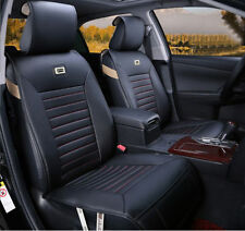 Black & Red needlework PU Leather Car Seat Cover 10P for X1 Q5 C250 CC SRX New