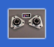 "2 NEW AZUSA STD 1"" AXLE BEARINGS & FOUR 3 HOLE FLANGETTES GO KART MINIBIKE"