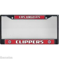LOS ANGELES CLIPPERS LOGO CHROME LICENSE PLATE FRAME MADE IN USA