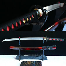 30.7'hand forged damascus folded steel japanese wakizashi samurai real sword.