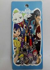 Japanese Animation Fairy Tail Metal Cell Phone Charm 5 pcs Set