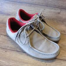 SIZE UK 6 FRED PERRY WALLABEE STYLE LACE UP CASUAL FAWN NUBUCK LEATHER SHOES