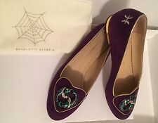 Charlotte Olympia Pisces Zodiac/ Birthday Purple Suede 39 Shoes