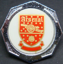 ARSENAL FC Vintage 1970s 80s insert type badge Brooch pin in chrome 31mm x 31mm