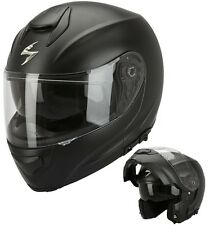 CASCO MOTO MODULARE APRIBILE SCORPION EXO 3000 AIR NERO OPACO BLACK MATT TG M