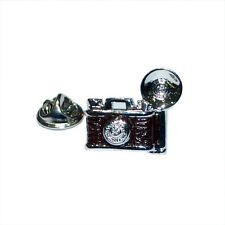 Retro Camera With Flash Bulb Lapel Pin Badge Shirt Collar Brooch