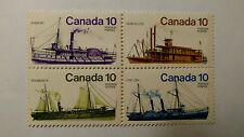 Canada #700-703 (703a), 1976 10c Inland Vessels / Ships MNH