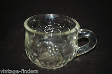 Old Vintage Fruit ~ Clear by Jeannette Punch Cup Fruit Design ~ Mid-Century
