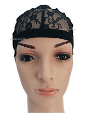 Full Mesh Weaving Wig Cap Breathable Lace Net With Secure Adjustable Strap #1231
