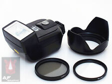 CK8u Filter CPL / UV + Lens Hood + Flash for Canon EOS 450D 500D 550D 18-55mm