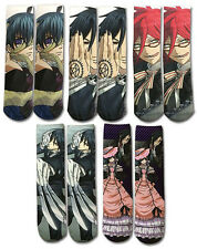 Black Butler Socks 5 Pair Set Anime Manga NEW