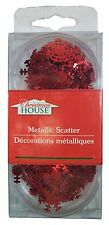 Christmas House Metallic Red Snowflake Table Scatter