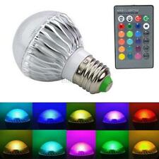 E27 15W RGB LED Lamp Color Changing Light Bulb 85-265V +Remote Control Hot E16