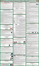 2017 Florida State & Federal Labor Law Poster - (SPANISH) - Laminated.