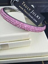 Luxurious Pink Bangle With Sparkling Swarovski Crystal Elements - 0.8mm