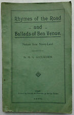 H G  GALLACHER.RHYMES OF THE ROAD AND BALLADS OF BEN VENUE.S/B 1930