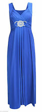 SALE ! GORGEOUS ROYAL BLUE BUCKLE MAXI PARTY OCCASION XMAS DRESS SIZE 8 10 NEW