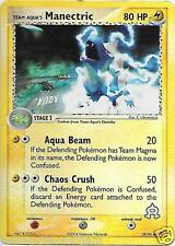 Team Aqua's Manectric #29/95 Rev. Holo TEAM MAGMA/AQUA Pokemon Card  GOOD