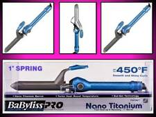 "NEW!!! BABYLISS PRO NANO TITANIUM 450° TURBO HEAT SOL-GEL 1"" SPRING CURLING IRON"