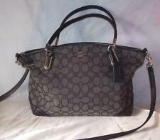COACH KELSEY Small Signature Satchel Shoulder Bag Purse Black/Gray 36181 EC