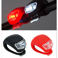 2X Silicone Bike Bicycle Cycling Head Front Rear Wheel LED Flash Light Lamp Hot