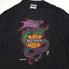 VTG Deadstock NOS 80s Harley Davidson Bikers Only Shirt Easyriders Dragon