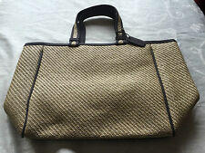 Cerruti Woven Open Top Rattan Bag Ideal For the Beach and Picnics