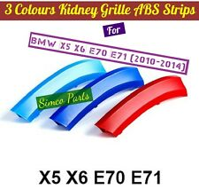 3D 3 Colours Kidney Grille Plastic Cover Strips Clips BMW X5 X6 E70 E71 2010-15
