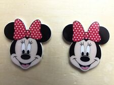 Disney Minnie Face Planar Resin-Cabochon-Plastic-Hair Bow Center-Supply-
