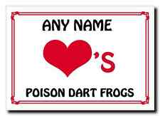 Love Heart Poison Dart Frogs Personalised Jumbo Magnet