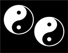 Two Ying Yang Decals Yin Yan Symbols car window laptop stickers graphic