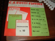 CARLO ALBERTO ROSSI   PROMOZIONALE   VEDI  ITALY'65