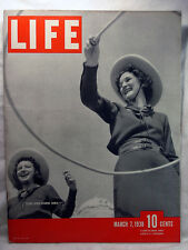 Life magazine Mar 7 1938 TEXAS COWGIRLS Hitler in Czech