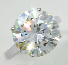 6 ct Round Ring Vintage Brilliant Top Russian CZ  Moissanite Simulant Size 9