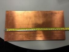 "1/8"" Copper Sheet Plate 6"" x 12""  x .125 inch thick 6inx12inx.125in"