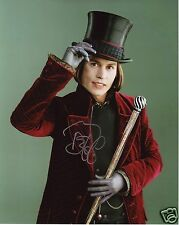 JOHNNY DEPP - WILLY WONKA AUTOGRAPH SIGNED PP PHOTO POSTER