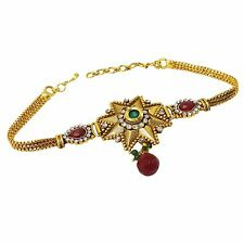 Ethnic Traditional Indian Goldtone Armlet Bridesmaid Bollywood Jewelry ARM558A
