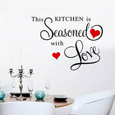 CETTE CUISINE EST SEASONED WITH LOVE autocollant mural ART maison Décor Vif