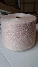 fil à tricoter Rose Clair-Blanc 1Kg600 coton-acrylique