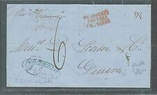 MALTA (P2608B) 1864 STAMPLESS TO GENOA ITALY