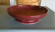 Longaberger Pottery lg Footed Pasta Bowl Paprika red NEW in boxVegetable serving