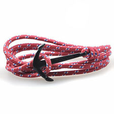 Black Anchor Bracelet Red White Dotted Metal Alloy Jewelry by Maya Bracelets New