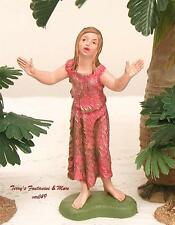 "FONTANINI DEPOSE ITALY 4"" COLOR GIRL PRAISING GOD NATIVITY VILLAGE FIGURE NEW"