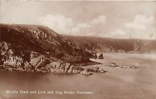 BR61992 moulin huet and lion and dog rocks guernsey  real photo  uk