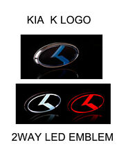 LED EMBLEM KIA K LOGO OCEAN BLUE FRONT OR REAR  FOR KIA OPTIMA 2015~