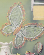Crochet Pattern ~ BUTTERFLY WALL HANGING Home Decor ~ Instructions