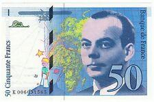 BILLET NEUF SUP 50 FRANCS ST EXUPERY 1993  ACCENT SUR LE E DE EXUPERY