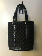 Marc Jacobs Quilted Satin Bucket Bag Tote Black Purse Authentic