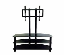 "HODEDAH IMPORT HITV2502 Hodedah 43"" Wide Glass TV Stand with Mount NEW"