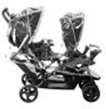 NEW UNIVERSAL DOUBLE TWIN/ TANDEM RAINCOVER ( RAIN COVER ) PUSHCHAIR